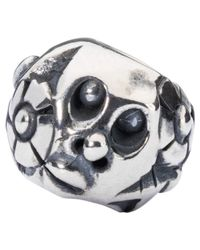 Trollbeads - Metallic Nature Sterling Silver Charm - Lyst