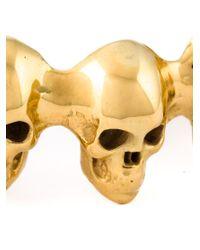 Leivan Kash | Metallic 'skull Memento' Cuff | Lyst