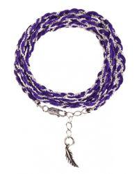 Only Noa Chez Carré Y. | Purple Amethyst Braided Bracelet | Lyst