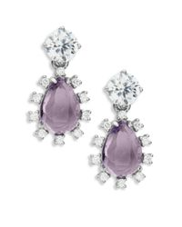 Nadri | Purple Amethyst And Sterling Silver Drop Earrings | Lyst