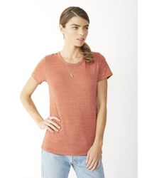 Alternative Apparel | Red Ideal Eco-jersey T-shirt | Lyst