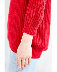 Glamorous | Red Cozy Stitched Sweater | Lyst