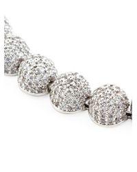 Eddie Borgo | Metallic Pavé Crystal Dome Bracelet | Lyst