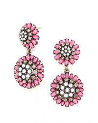 BaubleBar | Pink Crystal Dandelion Drops | Lyst