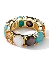 Ippolita   Metallic 18K Gold Rock Candy Gelato Fancy Round All-Stone Ring   Lyst