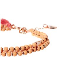 Jack Wills - Orange Pink Beaded Tassel Bracelet - Lyst