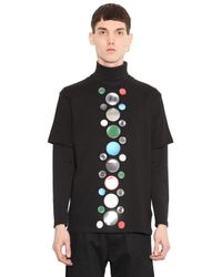 Christopher Kane | Black Atom Sticker Cotton T-shirt for Men | Lyst