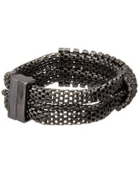 Guess - Black Multi Chain With Stone Magnetic Close Bracelet - Lyst