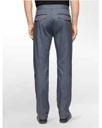 Calvin Klein - Gray White Label Ultra Slim Fit Calvary Twill Pants for Men - Lyst