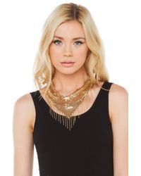 AKIRA - Metallic Bandit Queen Necklace - Gold - Lyst