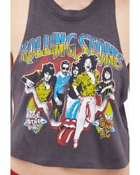 Forever 21 - Gray Rolling Stones Muscle Tee - Lyst