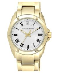 Vince Camuto | Metallic Guilloche Dial Bracelet Watch | Lyst