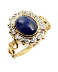 Amrapali | Diamond And Oval Blue Sapphire Ring | Lyst