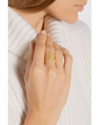 Pamela Love - Metallic Star Age Gold-plated Pearl Ring - Lyst