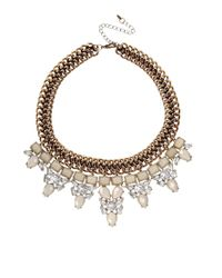 Oasis | Metallic Marble Statement Collar Necklace | Lyst