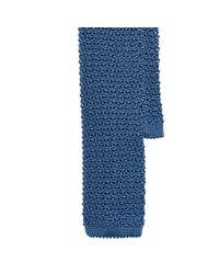 Ralph Lauren Black Label - Blue Solid Knit Silk Tie for Men - Lyst