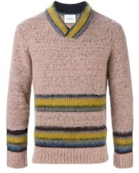 Iceberg - Pink Striped Sweater for Men - Lyst