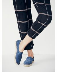Free People | Blue Freeway Espadrille | Lyst