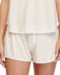 Eberjey - Natural Earl Patterned Lounge Shorts - Lyst