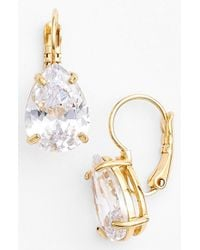 kate spade new york | Metallic 'draped Jewels' Drop Earrings - Clear | Lyst