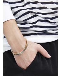 Marc By Marc Jacobs | Metallic Grey Enamel Bracelet | Lyst