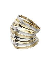 TOPSHOP | Metallic Mixed Metal Bangle Pack | Lyst