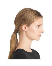 COACH - Metallic Heart Padlock Stud Earrings - Lyst