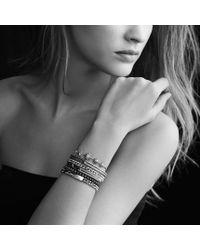 David Yurman | Petite Pavé Spiritual Bead Bracelet with Black Diamonds | Lyst
