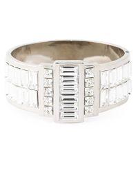 Alexander McQueen | Metallic Swarovski Crystal Cuff | Lyst