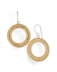 Anna Beck | Metallic 'gili' Circle Drop Earrings | Lyst
