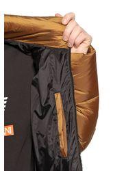 Emporio Armani - Metallic Quilted Nylon Ripstop Down Jacket - Lyst