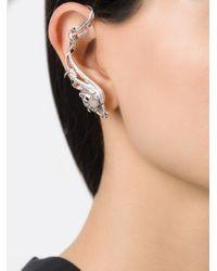 Nikos Koulis | Metallic Embellished Single Earring | Lyst