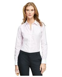 Brooks Brothers - Pink Non-iron Fitted Dress Shirt - Lyst