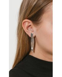 Coyote Negro - Metallic Laminitas Earrings - Lyst