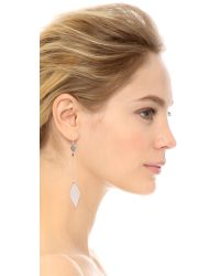 Vanessa Mooney - Metallic The Rodeo Earrings - Silver - Lyst