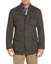 Brooks Brothers | Green Harris Tweed Hybrid Jacket for Men | Lyst