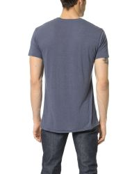 Sol Angeles - Blue Sol Basic Tee for Men - Lyst