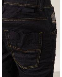 DIESEL - Black 'Krooley' Sweat Jeans for Men - Lyst
