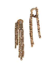 Oscar de la Renta | Metallic Chandelier Earrings - Cry Gold Shadow | Lyst
