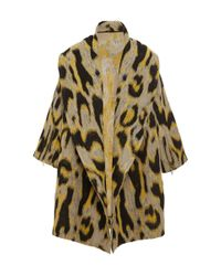 TOME - Multicolor Animal Jacquard Oversized Coat - Lyst