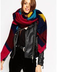 ASOS - Multicolor Oversized Scarf In Woven Jewel Stripe - Lyst