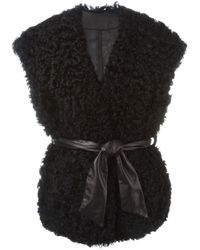 DROMe - Black Reversible Shearling Vest - Lyst