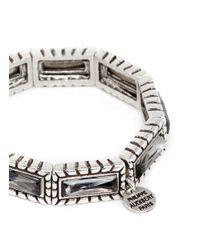 Philippe Audibert - Metallic 'zoey' Crystal Elastic Bracelet - Lyst