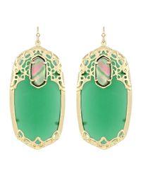 Kendra Scott - Maui Deva Oblong Earrings Green - Lyst