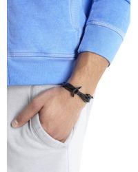 Miansai | Black Double Wrap Leather Anchor Bracelet for Men | Lyst