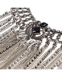 River Island - Metallic Silver Tone Tassel Statement Necklace - Lyst