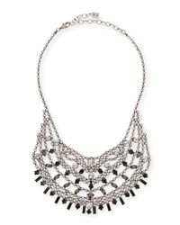 DANNIJO - Metallic Steinem Jet Crystal Bib Necklace - Lyst