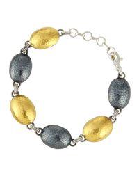 Gurhan | Metallic Curve Oval Station Bracelet | Lyst