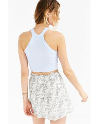 Truly Madly Deeply | Blue Fitted Cropped Tank Top | Lyst
