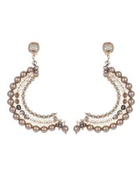 Nadia Minkoff | Metallic Statement Crescent Earrings Lilac | Lyst